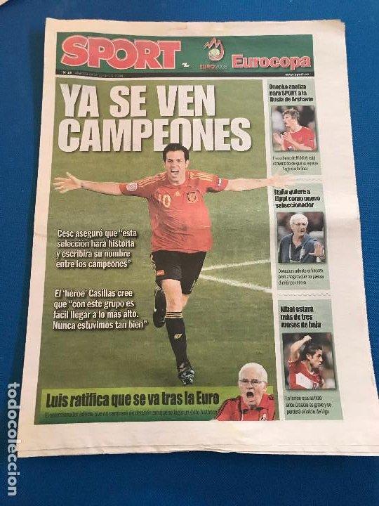 Coleccionismo deportivo: portadas sport España Campeona de Eurocopa 2008 - Foto 7 - 228483290