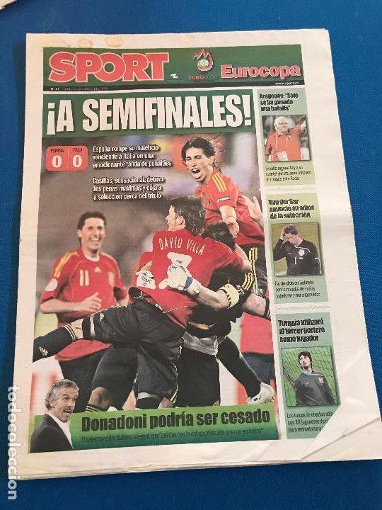 Coleccionismo deportivo: portadas sport España Campeona de Eurocopa 2008 - Foto 8 - 228483290