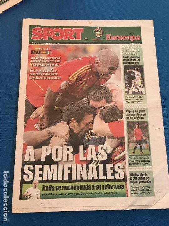 Coleccionismo deportivo: portadas sport España Campeona de Eurocopa 2008 - Foto 9 - 228483290