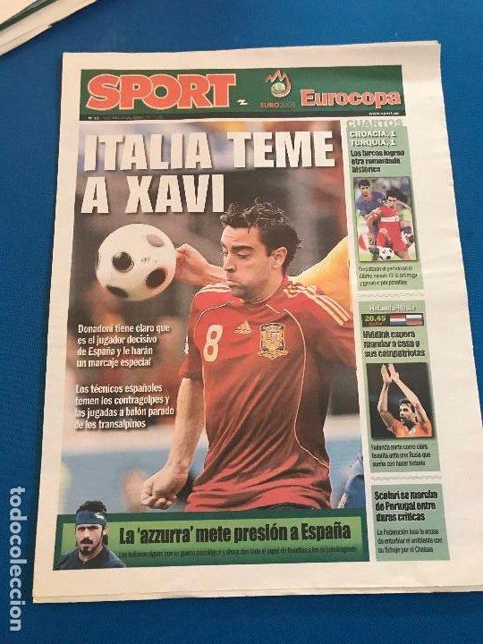 Coleccionismo deportivo: portadas sport España Campeona de Eurocopa 2008 - Foto 10 - 228483290