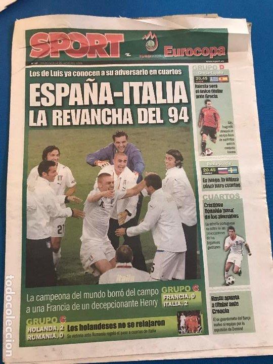 Coleccionismo deportivo: portadas sport España Campeona de Eurocopa 2008 - Foto 13 - 228483290