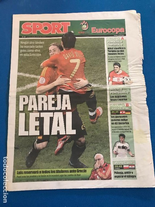 Coleccionismo deportivo: portadas sport España Campeona de Eurocopa 2008 - Foto 15 - 228483290