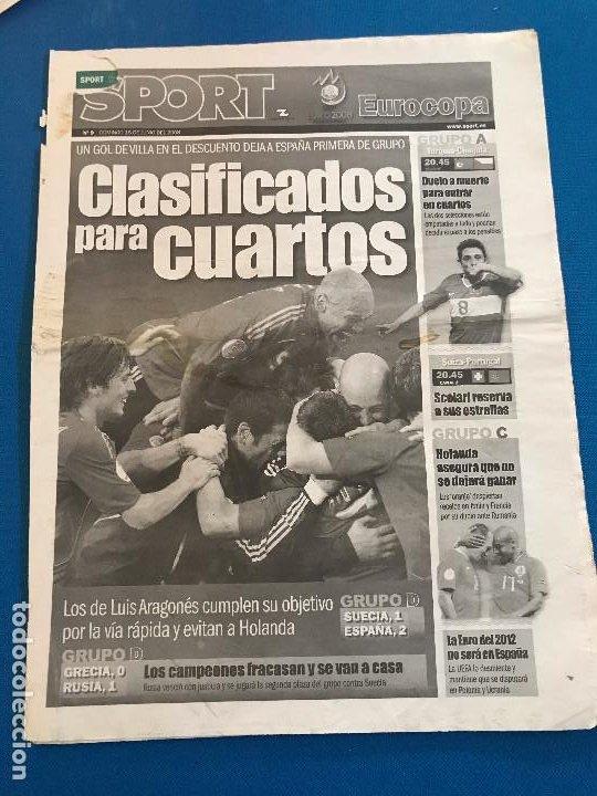Coleccionismo deportivo: portadas sport España Campeona de Eurocopa 2008 - Foto 16 - 228483290