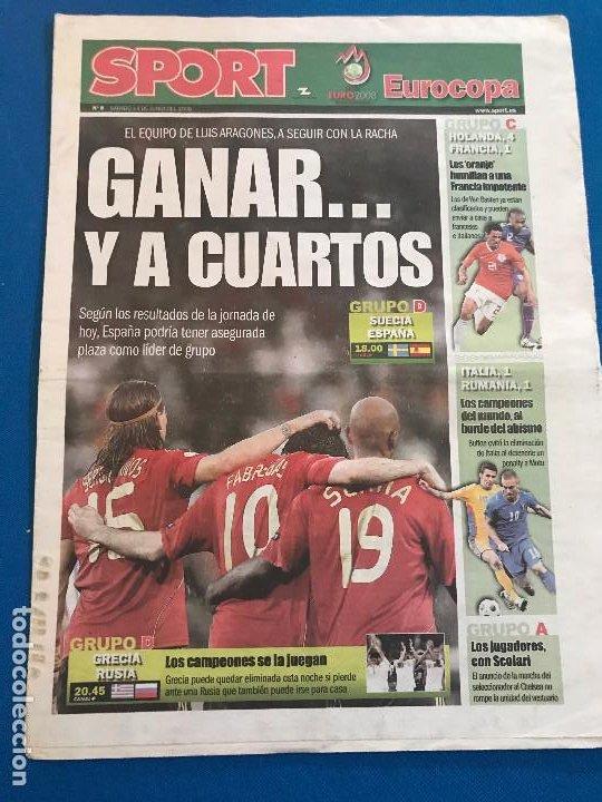Coleccionismo deportivo: portadas sport España Campeona de Eurocopa 2008 - Foto 17 - 228483290
