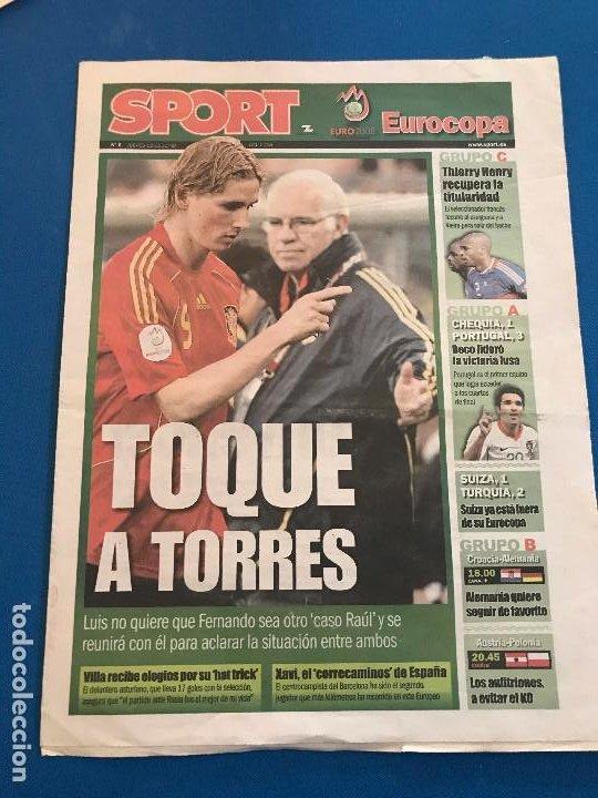 Coleccionismo deportivo: portadas sport España Campeona de Eurocopa 2008 - Foto 19 - 228483290