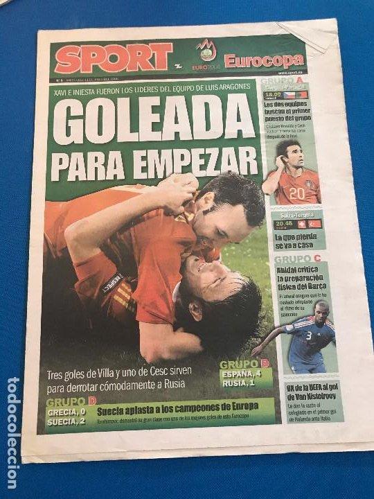 Coleccionismo deportivo: portadas sport España Campeona de Eurocopa 2008 - Foto 20 - 228483290