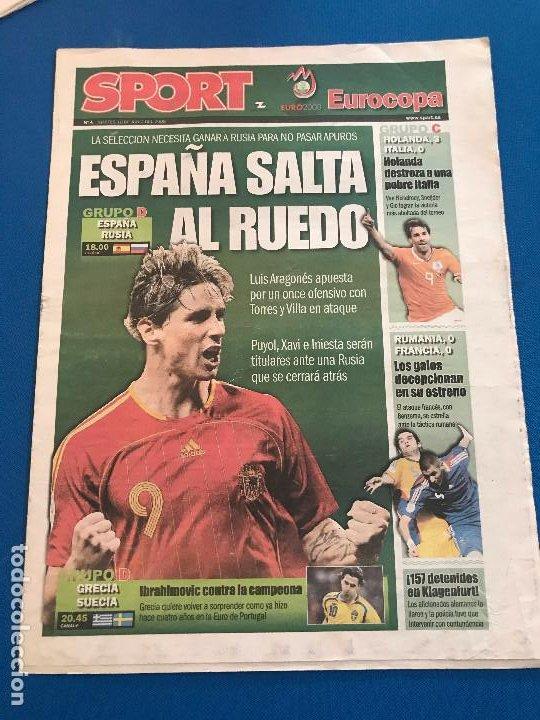 Coleccionismo deportivo: portadas sport España Campeona de Eurocopa 2008 - Foto 21 - 228483290