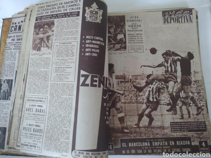 LIBRO CON 29 PERIÓDICOS DE LA VIDA DEPORTIVA. AÑOS 1954 -1955. (Coleccionismo Deportivo - Revistas y Periódicos - Vida Deportiva)