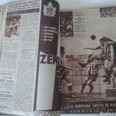 Coleccionismo deportivo: LIBRO CON 29 PERIÓDICOS DE LA VIDA DEPORTIVA. AÑOS 1954 -1955.. Lote 228670710