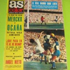 Collectionnisme sportif: AS COLOR Nº 20 –5-10-1971, POSTER Nº 20- ANGEL NIETO CON AUTOGRAFO. Lote 228725908