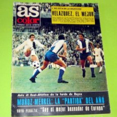Collectionnisme sportif: AS COLOR Nº 33, 4-1--1972, POSTER Nº 33 REAL OVIEDO 71-72. Lote 228729115