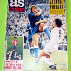 Collectionnisme sportif: AS COLOR Nº 43, 14-3-1972, POSTER Nº 43 REAL SANTANDER 71-72. Lote 228739300