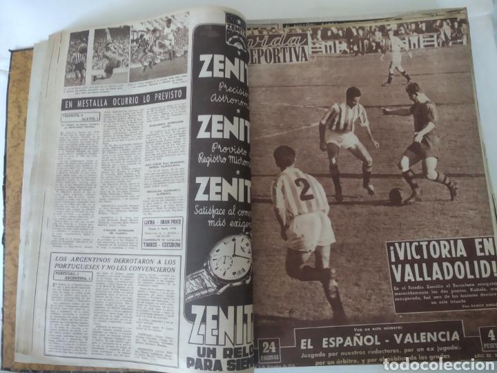 Coleccionismo deportivo: Libro con 29 periódicos de la Vida deportiva. Años 1954 -1955. - Foto 12 - 228670710
