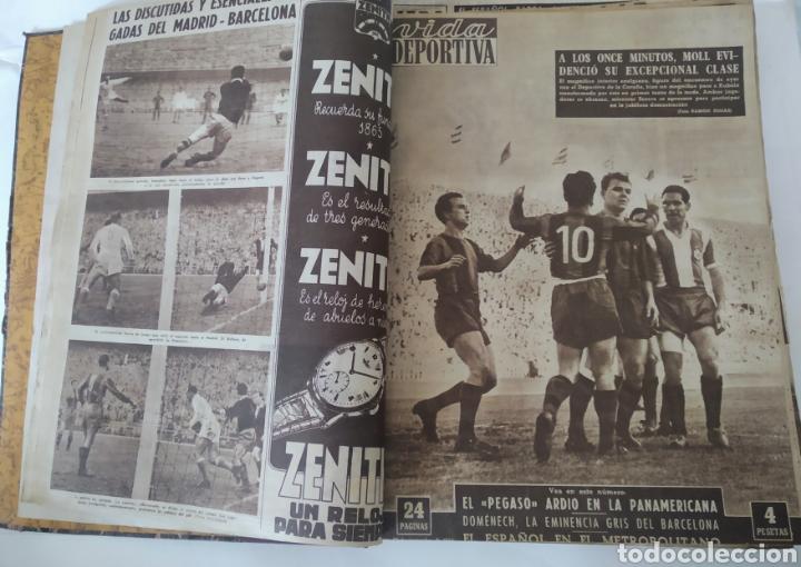 Coleccionismo deportivo: Libro con 29 periódicos de la Vida deportiva. Años 1954 -1955. - Foto 16 - 228670710