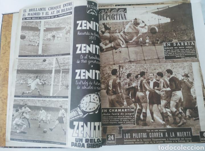 Coleccionismo deportivo: Libro con 29 periódicos de la Vida deportiva. Años 1954 -1955. - Foto 19 - 228670710