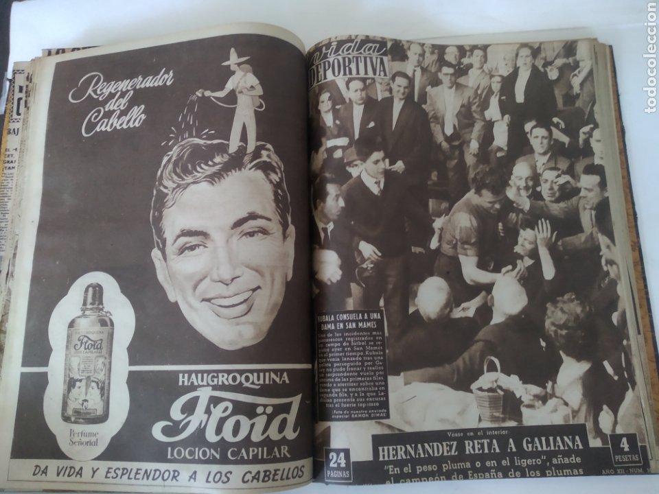 Coleccionismo deportivo: Libro con 29 periódicos de la Vida deportiva. Años 1954 -1955. - Foto 26 - 228670710