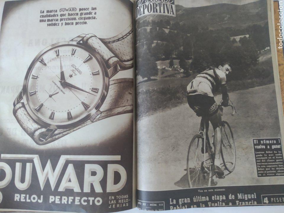 Coleccionismo deportivo: Libro con 29 periódicos de la Vida deportiva. Años 1954 -1955. - Foto 27 - 228670710