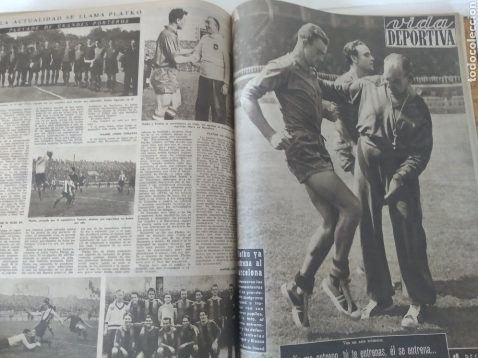 Coleccionismo deportivo: Libro con 29 periódicos de la Vida deportiva. Años 1954 -1955. - Foto 28 - 228670710