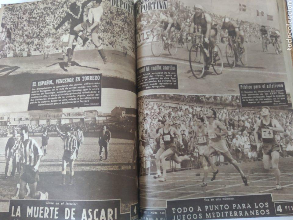 Coleccionismo deportivo: Libro con 29 periódicos de la Vida deportiva. Años 1954 -1955. - Foto 29 - 228670710