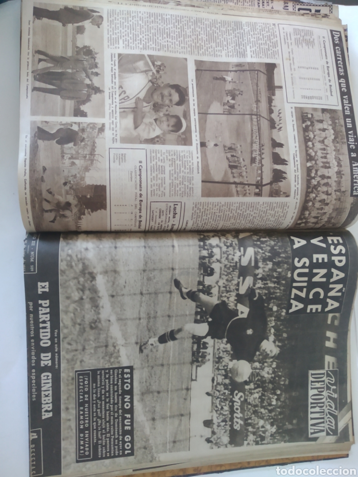 Coleccionismo deportivo: Libro con 29 periódicos de la Vida deportiva. Años 1954 -1955. - Foto 30 - 228670710