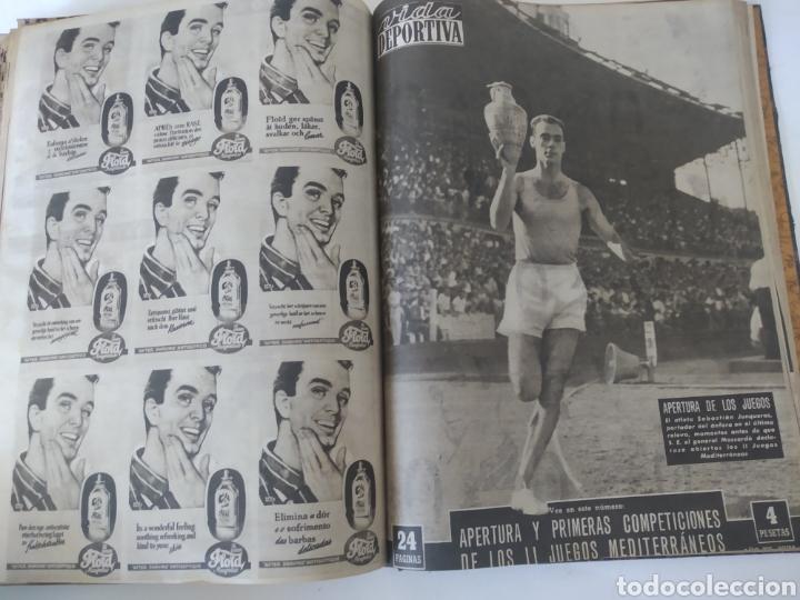 Coleccionismo deportivo: Libro con 29 periódicos de la Vida deportiva. Años 1954 -1955. - Foto 31 - 228670710