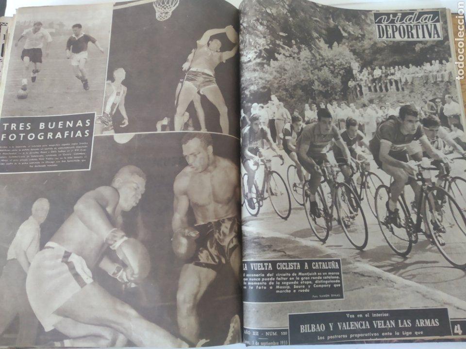 Coleccionismo deportivo: Libro con 29 periódicos de la Vida deportiva. Años 1954 -1955. - Foto 35 - 228670710