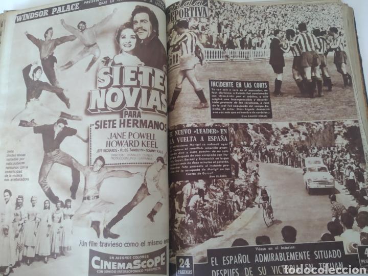 Coleccionismo deportivo: Libro con 29 periódicos de la Vida deportiva. Años 1954 -1955. - Foto 36 - 228670710