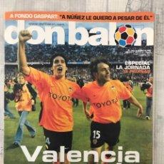 Coleccionismo deportivo: FÚTBOL DON BALÓN 1491 - POSTER XAVI - EURO 2004 - VALENCIA - GASPART - MILÁN - ATHLETIC FEMENINO. Lote 229038955