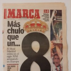 Colecionismo desportivo: PERIÓDICO MARCA. 25 MAYO 2000. REAL MADRID VENCE AL VALENCIA. FINAL COPA DE EUROPA 2000. CHAMPIONS.. Lote 229089475
