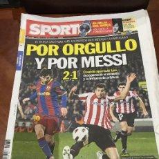 Collectionnisme sportif: PORTADA SPORT 21-03-2011 VICTORIA LIGA FC BARCELONA - ATH BILBAO. Lote 229191005