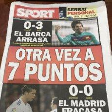 Colecionismo desportivo: PORTADA SPORT 27-02-2011 VICTORIA LIGA MALLORCA - FC BARCELONA. Lote 229192175