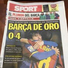 Colecionismo desportivo: PORTADA SPORT 09-01-2011 VICTORIA LIGA DEPORTIVO - FC BARCELONA. Lote 229192765