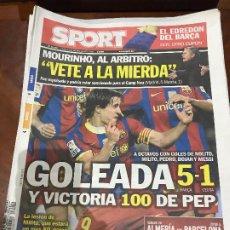 Collectionnisme sportif: PORTADA SPORT 11-11-2010 VICTORIA COPA DIECISEIAVOS VUELTA FC BARCELONA - CEUTA. Lote 229330410