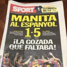 Collectionnisme sportif: PORTADA SPORT 19-12-2010 VICTORIA LIGA ESPAÑOL - FC BARCELONA. Lote 229330665