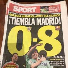 Collectionnisme sportif: PORTADA SPORT 21-11-2010 VICTORIA LIGA ALMERIA - FC BARCELONA. Lote 229330905