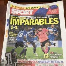 Colecionismo desportivo: PORTADA SPORT 08-11-2010 VICTORIA LIGA GETAFE - FC BARCELONA. Lote 229331150
