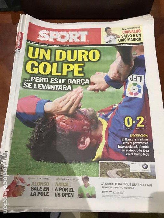 PORTADA SPORT 12-09-2010 DERROTA LIGA FC BARCELONA - HERCULES (Coleccionismo Deportivo - Revistas y Periódicos - Sport)