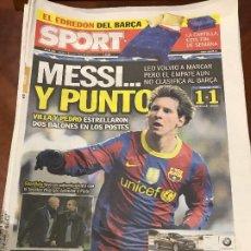 Colecionismo desportivo: PORTADA SPORT 03-11-2010 EMPATE CHAMPIONS COPENAGUE - FC BARCELONA. Lote 229375535