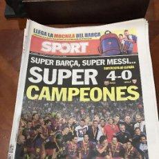Collectionnisme sportif: PORTADA SPORT 21 Y 22-08-2010 SUPERCOPA VUELTA FC BARCELONA - SEVILLA. Lote 229404340