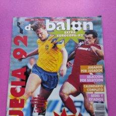 Collezionismo sportivo: EXTRA DON BALON EURO SUECIA 92 - REVISTA ESPECIAL GUIA EUROCOPA UEFA SWEDEN 1992 POSTER. Lote 229520625
