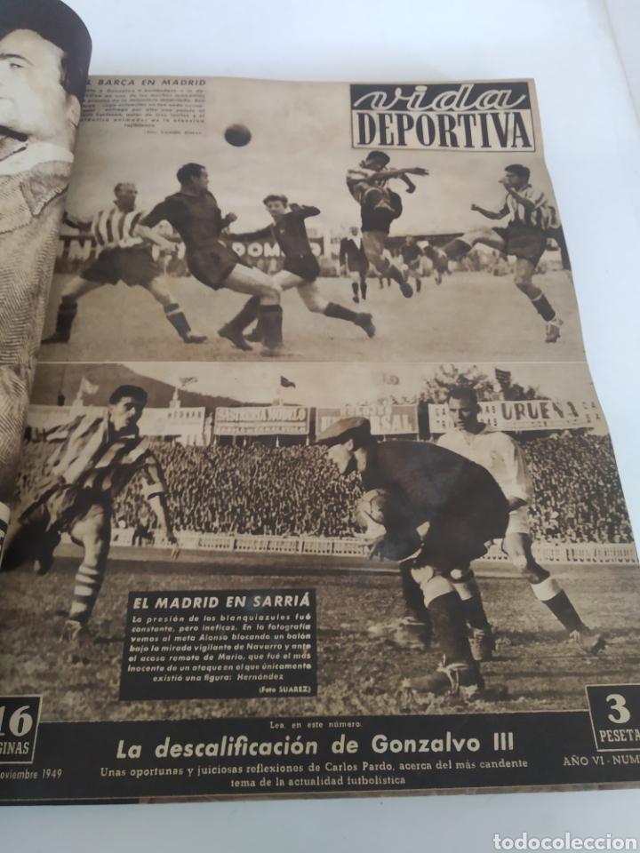 Coleccionismo deportivo: Libro con 29 periódicos de la Vida deportiva. Años 1949-1950 - Foto 2 - 229537530