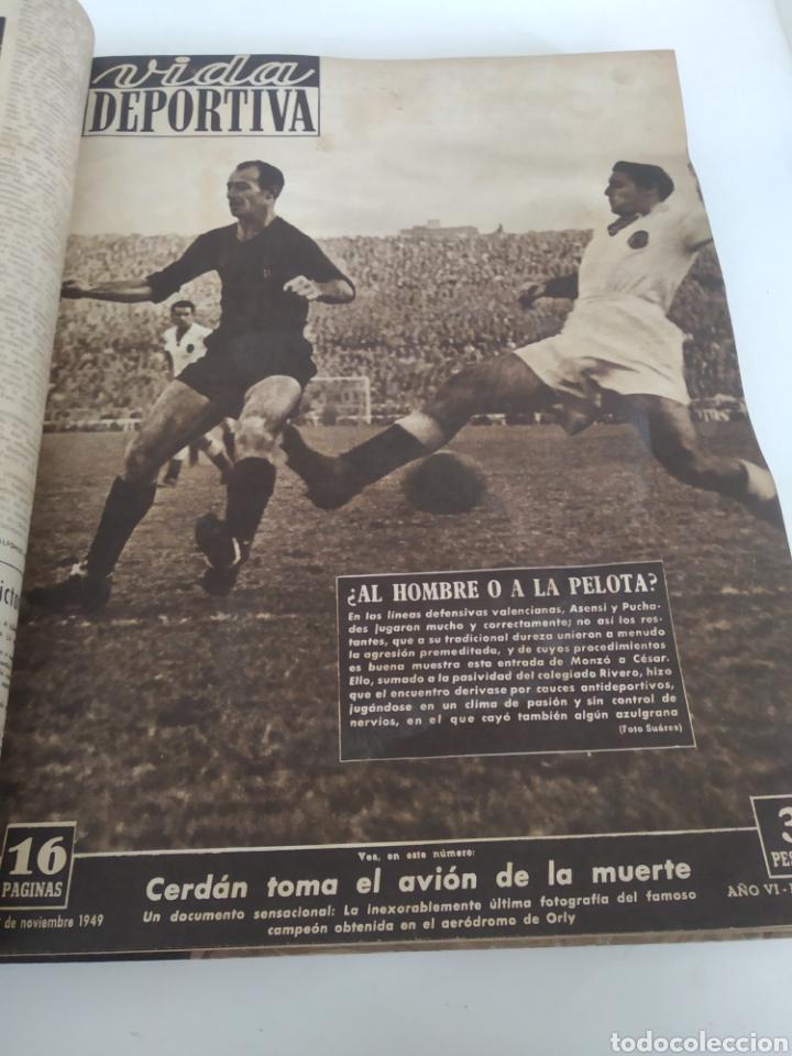 Coleccionismo deportivo: Libro con 29 periódicos de la Vida deportiva. Años 1949-1950 - Foto 4 - 229537530