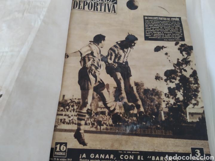 Coleccionismo deportivo: Libro con 29 periódicos de la Vida deportiva. Años 1949-1950 - Foto 5 - 229537530