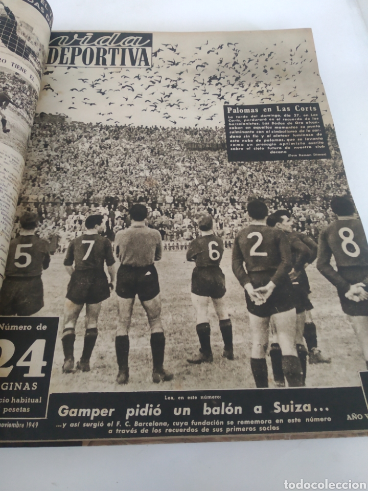 Coleccionismo deportivo: Libro con 29 periódicos de la Vida deportiva. Años 1949-1950 - Foto 6 - 229537530