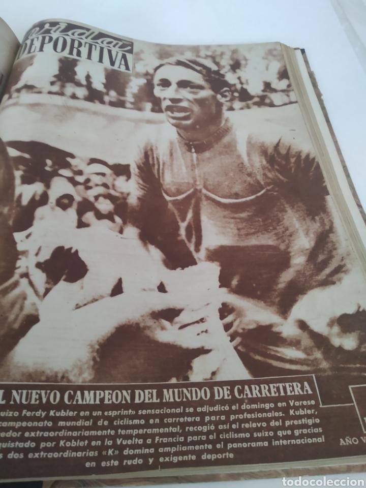 Coleccionismo deportivo: Libro con 29 periódicos de la Vida deportiva. Años 1949-1950 - Foto 7 - 229537530