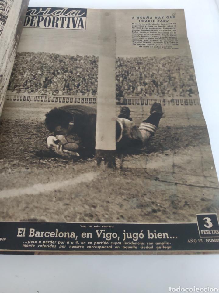 Coleccionismo deportivo: Libro con 29 periódicos de la Vida deportiva. Años 1949-1950 - Foto 8 - 229537530