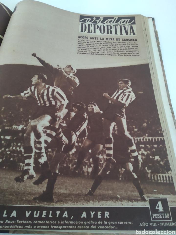 Coleccionismo deportivo: Libro con 29 periódicos de la Vida deportiva. Años 1949-1950 - Foto 9 - 229537530