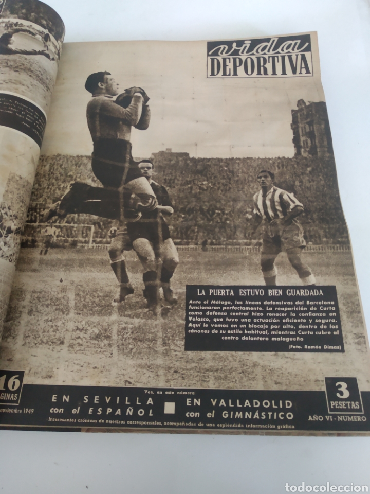 Coleccionismo deportivo: Libro con 29 periódicos de la Vida deportiva. Años 1949-1950 - Foto 11 - 229537530