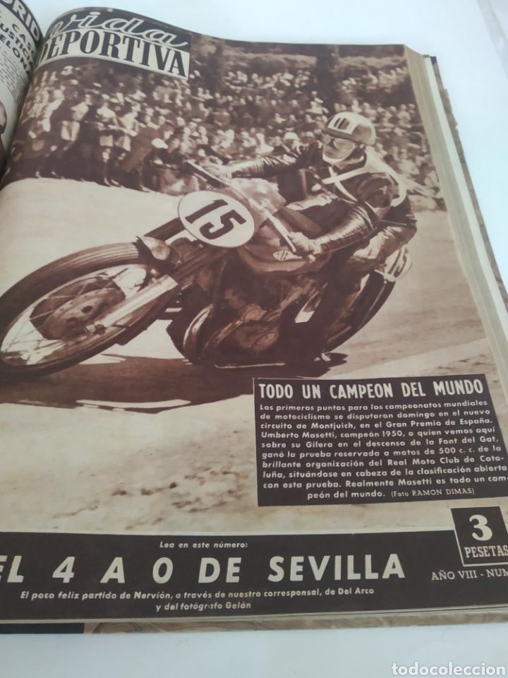 Coleccionismo deportivo: Libro con 29 periódicos de la Vida deportiva. Años 1949-1950 - Foto 12 - 229537530