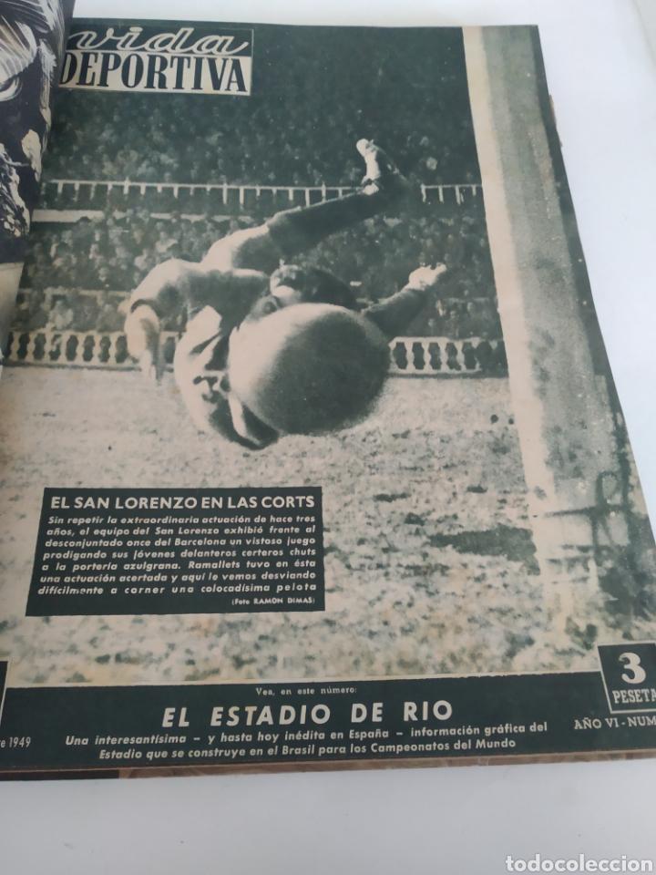 Coleccionismo deportivo: Libro con 29 periódicos de la Vida deportiva. Años 1949-1950 - Foto 13 - 229537530